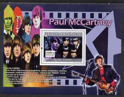 Guinea - Conakry 2007 Male Music Stars perf souvenir sheet (Paul McCartney) unmounted mint