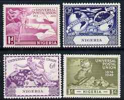 Nigeria 1949 KG6 75th Anniversary of Universal Postal Union set of 4 unmounted mint, SG 64-67
