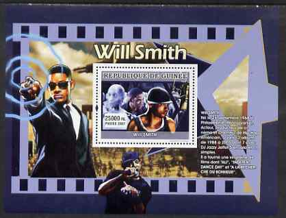 Guinea - Conakry 2007 'The Greats' perf souvenir sheet (Will Smith) unmounted mint