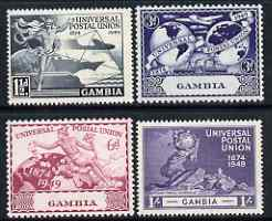 Gambia 1949 KG6 75th Anniversary of Universal Postal Union set of 4 unmounted mint, SG166-9
