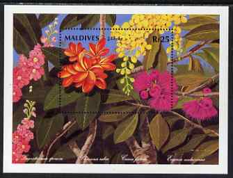 Maldive Islands 1992 National Flowers perf m/sheet #1 unmounted mint SG MS 1661a