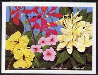 Maldive Islands 1992 National Flowers perf m/sheet #2 unmounted mint SG MS 1661b