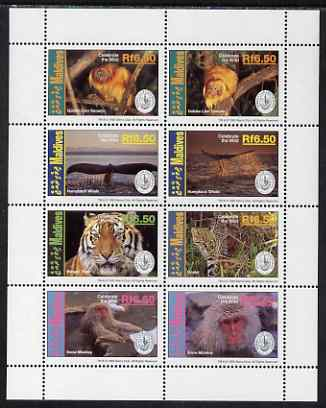 Maldive Islands 1994 Centenary of Sierra Club perf sheetlet containing 8 values unmounted mint SG 2019-26
