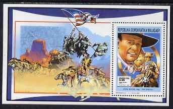 Malagasy Republic 1991 John Wayne perf m/sheet unmounted mint