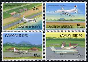 Samoa 1973 International Airport perf set of 4 unmounted mint, SG 409-12