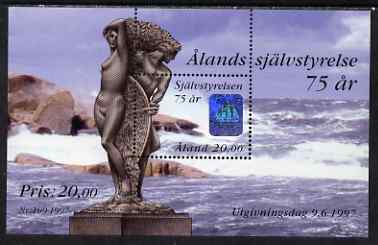 Aland Islands 1997 75th Anniversary of Autonomy perf m/sheet unmounted mint SG MS 126