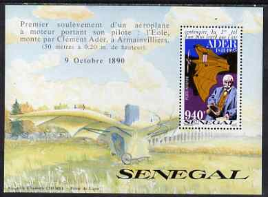 Senegal 1991 Centenary of Ader's First Heavier than Air Flight 940f perf m/sheet unmounted mint, SG MS 1110