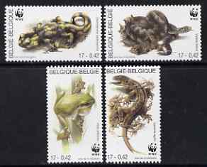 Belgium 2000 WWF Amphibians & Reptiles perf set of 4 unmounted mint SG 3566-69