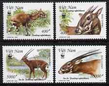Vietnam 2000 WWF Endangered Species - Sao La perf set of 4 unmounted mint SG 2325-8