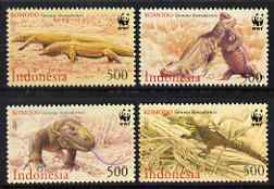 Indonesia 2000 WWF Endangered Species - Kimodo Dragon perf set of 4 unmounted mint SG 2620-3