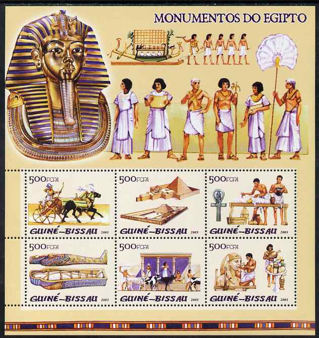 Guinea - Bissau 2005 Monuments of Egypt perf sheetlet containing 6 values unmounted mint Mi 3114-19