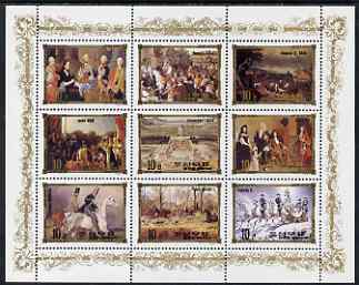 North Korea 1984 European Royalty #8 perf sheetlet containing 9 values unmounted mint, Mi 2594-2602