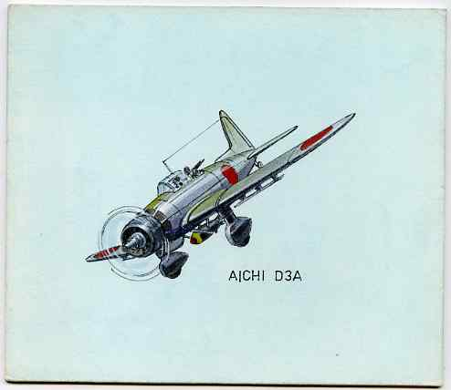 Bernera 1982 Aircraft #14 (Aichi) original artwork by R A Sherrington of the B L Kearley Studio, watercolour on board 160 x 135 mm plus issued perf sheetlet incorporating...