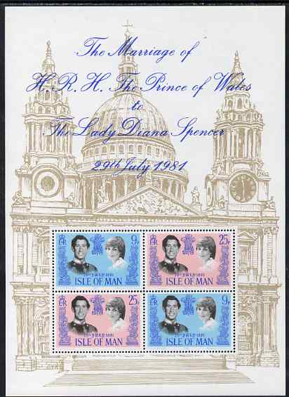 Isle of Man 1981 Royal Wedding perf m/sheet unmounted mint, SG MS204