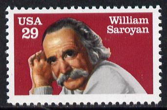 United States 1991 Death Anniversary of William Saroyan (Novelist & Dramatist) unmounted mint SG 2578*