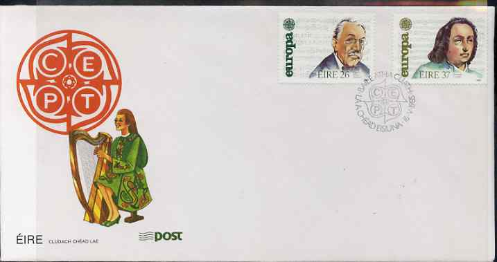 Ireland 1985 Europa - Music Year set of 2 on illustrated cover with first day cancels