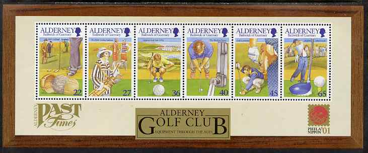 Guernsey - Alderney 2001 30th Anniversary of Alderney Golf Club perf m/sheet unmounted mint, SG MSA175
