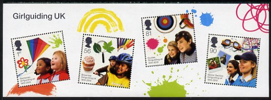 Great Britain 2010 Centenary of Girl Guides perf m/sheet unmounted mint