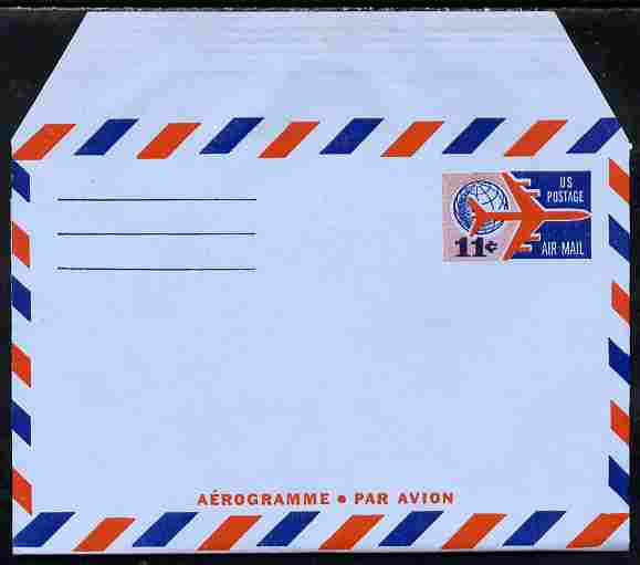 Aerogramme - United States 1965? 11c air-letter sheet folded along fold lines otherwise unused and fine