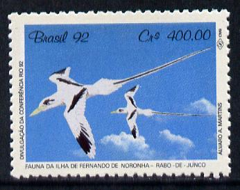 Brazil 1992 UN Conference on Environment #1 400cr (Tropic Bird) unmounted mint SG 2518*