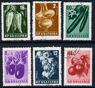 Rumania 1958 Agriculture cto set of 6 (Vegetables) SG 1107-12