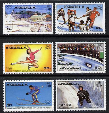Anguilla 1980 Lake Placid Winter Olympics set of 6 perf 13 (SG 389-94) unmounted mint