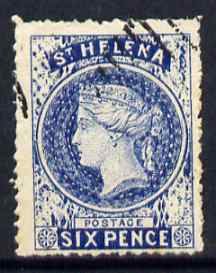 St Helena Forgery 6d blue by Spiro Brothers (West type 1) 'used' single. (Please note: we have a modest stock of this item so the one you receive may not be identical to the one scanned)