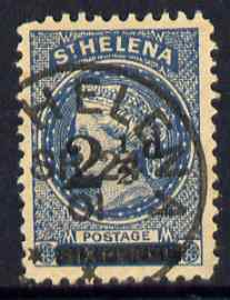 St Helena Forgery 2.5d on 6d blue by De Beuckelaer (West type 5) 'used' single. (Please note: we have a modest stock of this item so the one you receive may not be identical to the one scanned)