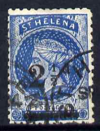 St Helena Forgery 2.5d on 6d blue by De Beuckelaer (West type 6) 'used' single. (Please note: we have a modest stock of this item so the one you receive may not be identical to the one scanned)