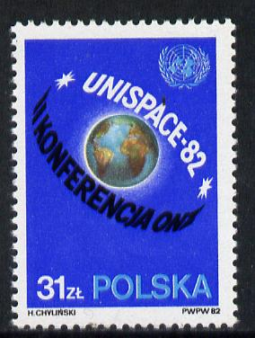 Poland 1982 UN Space Conference unmounted mint, SG 2819*