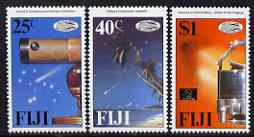 Fiji 1986 Halley's Comet perf set of 3 unmounted mint SG 738-40, stamps on space, stamps on telescopes, stamps on comets, stamps on halley