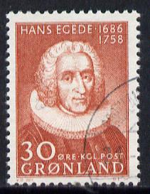 Greenland 1958 Hans Egede (Missionary) very fine cds used, SG 41*