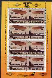 North Korea 1983 Luposta Airmail Exhibition perf sheetlet containing 4 se-tenant pairs, unmounted mint, SG N2280a