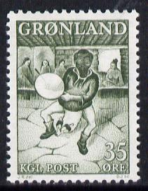 Greenland 1961 Drum Dance 35ore unmounted mint, SG 47*