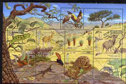 Namibia 2001 Flora & Fauna of the Central Highlands perf composite sheet containing set of 10 values unmounted mint SG 896-905