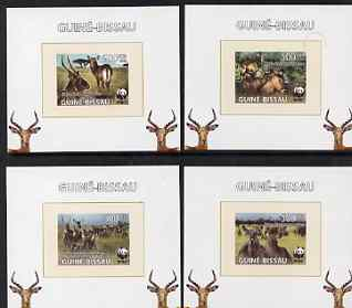 Guinea - Bissau 2008 WWF - Waterbuck set of 4 individual imperf deluxe sheets unmounted mint