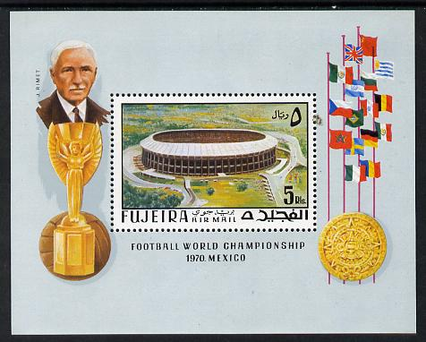 Fujeira 1970 World Cup Football perf m/sheet unmounted mint (Mi BL 27A)