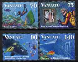 Vanuatu 1997 Diving perf set of 4 unmounted mint, SG 740-43
