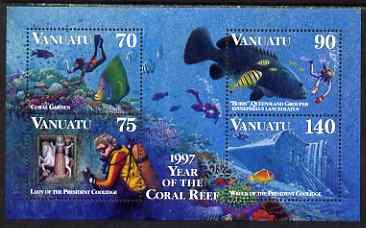 Vanuatu 1997 Diving perf m/sheet unmounted mint, SG MS 744
