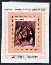 Vanuatu 1984 450th Death Anniversary of Correggio perf m/sheet unmounted mint, SG MS 762