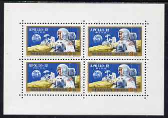 Hungary 1970 Apollo 12 Space Mission perf m/sheet containing block of 4 unmounted mint, SG MS 2516