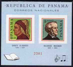 Panama 1966 Famous Men imperf m/sheet unmounted mint (Dante & Wagner)