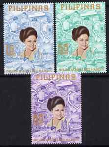 Philippines 1973 Projects Inaugurated by Imelda Marcos perf set of 3 unmounted mint, SG 1321-3