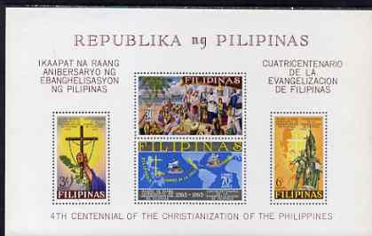Philippines 1965 400th Anniversary of Christianisation perf m/sheet unmounted mint, SG MS 1004