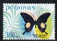Philippines 1969 Red Helen Butterfly 30s unmounted mint, SG 1120
