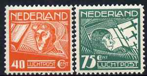 Netherlands 1928 Air perf set of 2 unmounted mint SG 371-2
