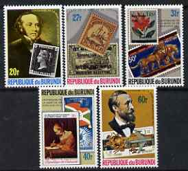 Burundi 1979 Death Centenary of Rowland Hill perf set of 5 unmounted mint SG 1346-50