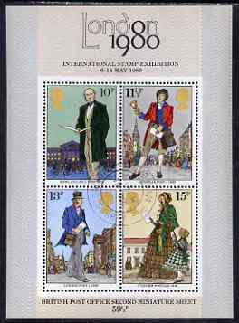 Great Britain 1979 Death Centenary of Sir Rowland Hill m/sheet fine cds used, SG MS 1099