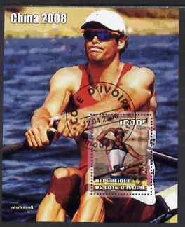 Ivory Coast 2006 Beijing Olympics - Rowing Olaf Tufte #2 perf s/sheet cto used