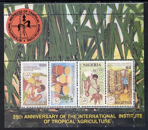Nigeria 1992 Tropical Agriculture m/s unmounted mint, SG MS 637